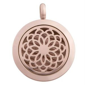 Picture of Flower Oil Diffuser Locket Rose Gold
